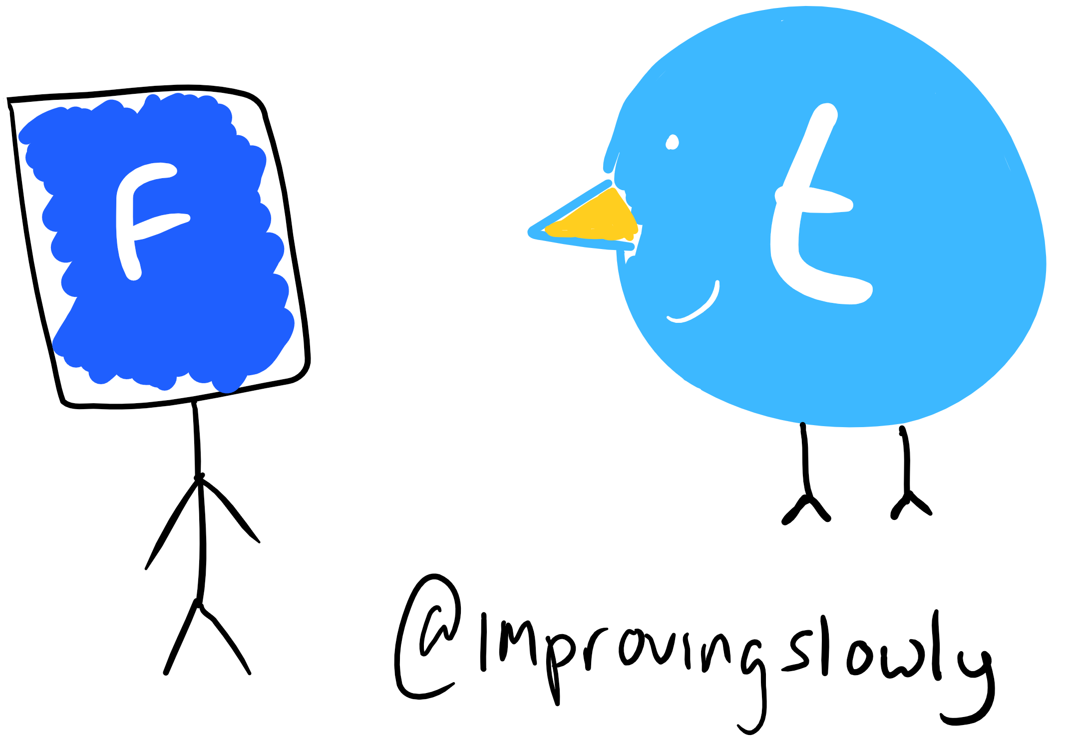 twitter and facebook mascots :D